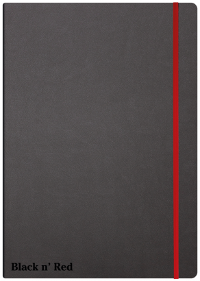 Oxford Black n' Red A4 Hardback Casebound Business Journal Ruled & Numbered 144 Page Black -  - 400038675_1100_1554292084
