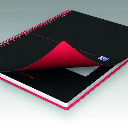 OXFORD Black n' Red Notebook - A4 - Polypropylene Cover - Twin-wire - Ruled - 140 Pages - SCRIBZEE® Compatible - Black - 400047653_1100_1583164330 - OXFORD Black n' Red Notebook - A4 - Polypropylene Cover - Twin-wire - Ruled - 140 Pages - SCRIBZEE® Compatible - Black - 400047653_1601_1583164331