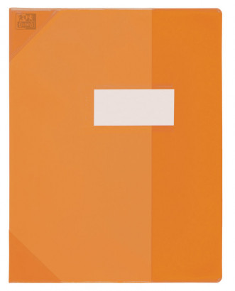 PROTEGE-CAHIER OXFORD STRONG LINE - 17X22 - PVC - 150µ - Translucide - Orange - 400050956_8000_1561565782