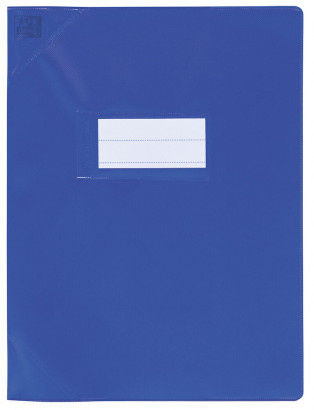 PROTEGE-CAHIER OXFORD STRONG LINE - 17X22 - PVC - 150µ - Opaque - Bleu - 400050964_8000_1561565807