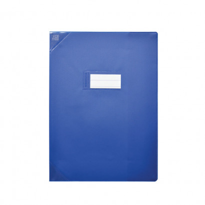 PROTEGE-CAHIER OXFORD STRONG LINE - 24X32 - PVC - 150µ - Opaque - Bleu - 400051139_8000_1561565979