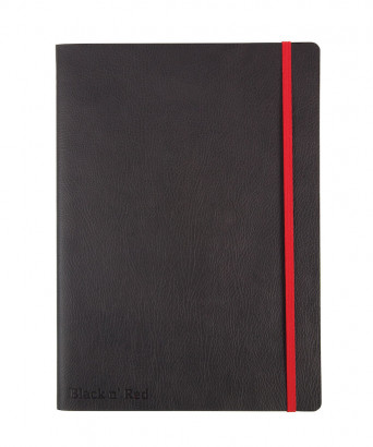 OXFORD Black n' Red Business Journal - B5 - Soepele leatherlook kaft - Gebonden - Gelijnd - 72 Vel - Zwart - 400051203_1100_1561095032