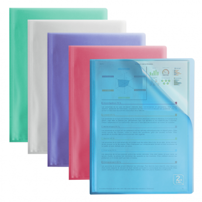 OXFORD 2ND LIFE DISPLAY BOOK - A4 - 20 pockets - Polypropylene - Translucent - Assorted colors - 400061817_1200_1593601688