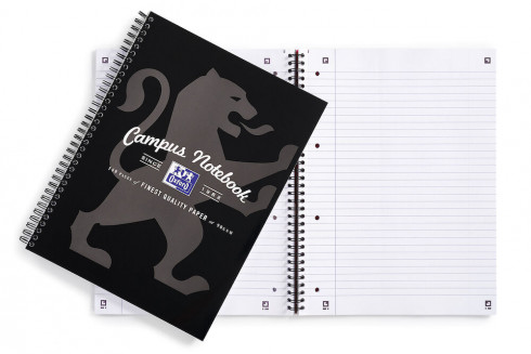 Oxford Campus A4+ Card Cover Wirebound Notebook Ruled with Margin 140 Pages Black -  - 400066528_1100_1561077120 - Oxford Campus A4+ Card Cover Wirebound Notebook Ruled with Margin 140 Pages Black -  - 400066528_1500_1583859340
