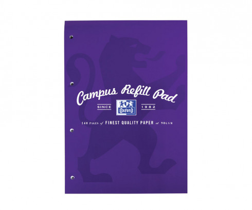 Oxford Campus A4 Headbound Refill Pad Ruled with Margin Ruled with Margin 140 Pages Purple -  - 400066644_1100_1561077064