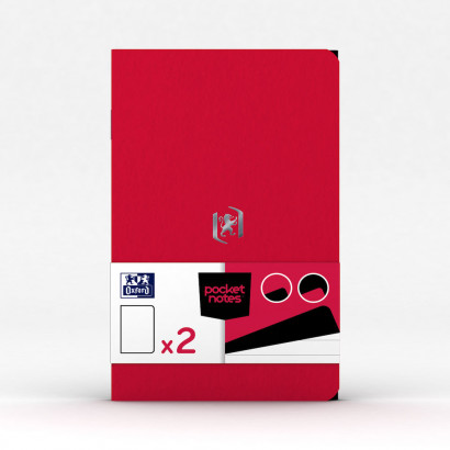 OXFORD Pocket Notes Notebook - 9x14cm - Soft Card Cover - Stapled - Ruled - 48 Pages - Fuchsia/Black (Pack of 2) - 400077715_1101_1559423455 - OXFORD Pocket Notes Notebook - 9x14cm - Soft Card Cover - Stapled - Ruled - 48 Pages - Fuchsia/Black (Pack of 2) - 400077715_1100_1583242452