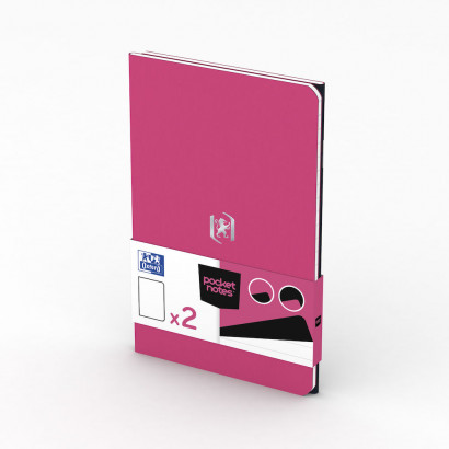 OXFORD Pocket Notes Notebook - 9x14cm - Soft Card Cover - Stapled - Ruled - 48 Pages - Fuchsia/Black (Pack of 2) - 400077715_1101_1559423455 - OXFORD Pocket Notes Notebook - 9x14cm - Soft Card Cover - Stapled - Ruled - 48 Pages - Fuchsia/Black (Pack of 2) - 400077715_1100_1583242452 - OXFORD Pocket Notes Notebook - 9x14cm - Soft Card Cover - Stapled - Ruled - 48 Pages - Fuchsia/Black (Pack of 2) - 400077715_1300_1583242453