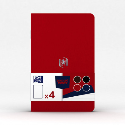 OXFORD Pocket Notes Notebook - 9x14cm - Soft Card Cover - Stapled - Ruled - 48 Pages - Assorted Classic Colours (Pack of 4) - 400077734_1102_1561076107 - OXFORD Pocket Notes Notebook - 9x14cm - Soft Card Cover - Stapled - Ruled - 48 Pages - Assorted Classic Colours (Pack of 4) - 400077734_1100_1583242493