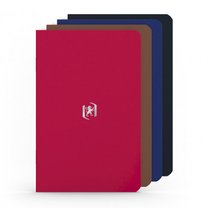 OXFORD Pocket Notes Notebook - 9x14cm - Soft Card Cover - Stapled - Ruled - 48 Pages - Assorted Classic Colours (Pack of 4) - 400077734_1102_1561076107