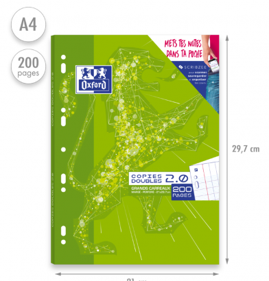 OXFORD 2.0 DOUBLE SHEETS - A4 - Cardboard Box - Seyès Squares - 200 punched pages - SCRIBZEE® Compatibles - 400085126_1100_1583147651 - OXFORD 2.0 DOUBLE SHEETS - A4 - Cardboard Box - Seyès Squares - 200 punched pages - SCRIBZEE® Compatibles - 400085126_2300_1583149838 - OXFORD 2.0 DOUBLE SHEETS - A4 - Cardboard Box - Seyès Squares - 200 punched pages - SCRIBZEE® Compatibles - 400085126_2301_1583149840