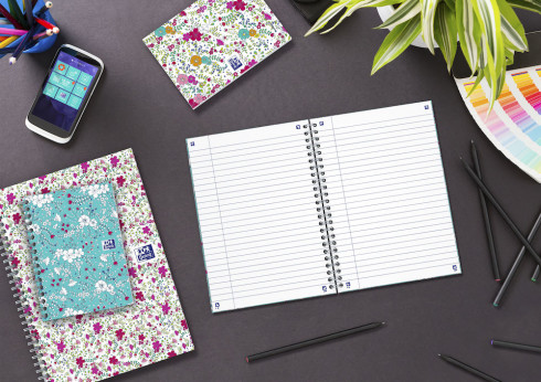 OXFORD Floral Notebook - A5 - Hardback Cover - Twin-wire - 5mm Squares - 120 Pages - SCRIBZEE® Compatible - Assorted Colours - 400094951_1100_1559321111 - OXFORD Floral Notebook - A5 - Hardback Cover - Twin-wire - 5mm Squares - 120 Pages - SCRIBZEE® Compatible - Assorted Colours - 400094951_2302_1588339249
