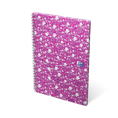 OXFORD Floral Notebook - A5 - Hardback Cover - Twin-wire - Ruled - 120 Pages - SCRIBZEE® Compatible - Assorted Colours - 400094953_1100_1559321118 - OXFORD Floral Notebook - A5 - Hardback Cover - Twin-wire - Ruled - 120 Pages - SCRIBZEE® Compatible - Assorted Colours - 400094953_1101_1559321120