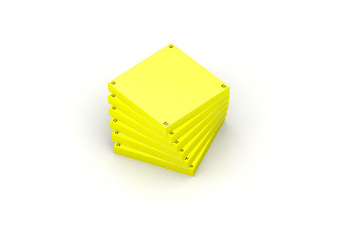 OXFORD Spot Notes - 7,5x7,5cm - Plain - 80 sheets/pad - SCRIBZEE® Compatible - Yellow - Pack of 6 Pads - 400096929_1100_1573806415