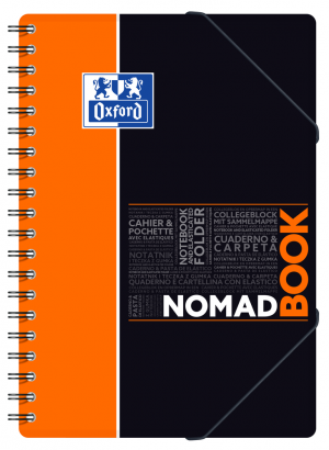 OXFORD ETUDIANTS Cahier NOMADBOOK - B5 tablette - Couverture polypro - Double spirale - Grands carreaux Seyès - 160 pages - Compatible SCRIBZEE® - Couleurs assorties - 400100860_1105_1583196755