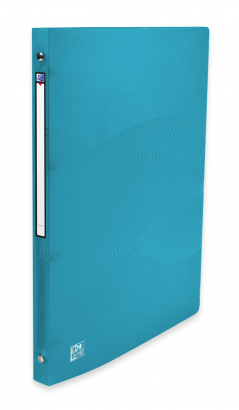 OXFORD OSMOSE RING BINDER - A4 - 20 mm spine - 4-O rings - Polypropylene - Translucent - Turquoise blue - 400105148_8000_1561110671