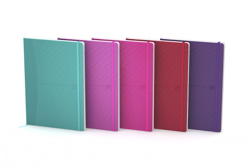 OXFORD Signature Notebook - A5 - Flex Cover - Casebound - 5mm Squares - 160 Pages - SCRIBZEE® Compatible - Assorted Bright Colours - 400112218_1400_1553597345