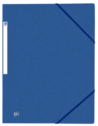 ELASTICATED FOLDER WITHOUT FLAPS OXFORD TOP FILE+ A4 BLUE -  - 400114353_1100_1566575267