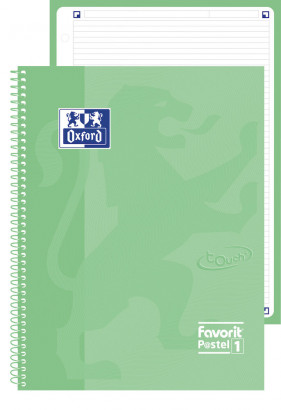 NOTEBOOK FAVORIT P@STEL 1 - A4+ - 1R - 160 pages - 4 holes - compatible with Scribzee - emerald - 400115569_1100_1553712071