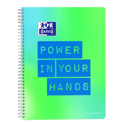 Oxford Limited Edition A4+ notebook - squared with margin on the left and on the right-160 pages-90 gsm Optik Paper®-twin wire binding-4 hole punched-micro-perforated-SCRIBZEE® compatible-2 designs assorted - 400130121_1100_1574362891