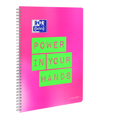 Oxford Limited Edition A4+ notebook - ruled with margin on the left and on the right-160 pages-90 gsm Optik Paper®-twin wire binding-4 hole punched-micro-perforated-SCRIBZEE® compatible-2 designs assorted - 400130124_1301_1574352177