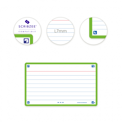OXFORD FLASH 2.0 flashcards - 105x148mm - gelijnd - groen - pak 80 stuks - SCRIBZEE® Compatible - 400133884_1100_1573395274 - OXFORD FLASH 2.0 flashcards - 105x148mm - gelijnd - groen - pak 80 stuks - SCRIBZEE® Compatible - 400133884_2300_1573395278
