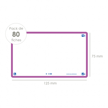 OXFORD FLASH 2.0 flashcards - blank with purple frame, 7,5 x 12,5 cm, pack of 80 - 400133890_1100_1573401144 - OXFORD FLASH 2.0 flashcards - blank with purple frame, 7,5 x 12,5 cm, pack of 80 - 400133890_2300_1573401149 - OXFORD FLASH 2.0 flashcards - blank with purple frame, 7,5 x 12,5 cm, pack of 80 - 400133890_2301_1573401151