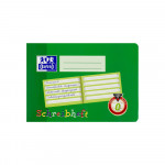 Oxford Lernsysteme Schreibheft - A5 quer - Lineatur 0 - 16 Blatt - 90 g/m² OPTIK PAPER® - geheftet - Grün - 100050100_1100_1559303454