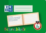 Oxford Lernsysteme Schreibheft - A5 quer - Lineatur 1q - 16 Blatt - 90 g/m² OPTIK PAPER® - geheftet - Grün - 100050101_1100_1559303456