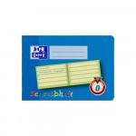 Oxford Lernsysteme Schreibheft - A5 quer - Lineatur 0 mit farbigem Mittelband - 16 Blatt - 90 g/m² OPTIK PAPER® - geheftet - Hellblau - 100050105_1100_1559303462