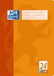 Oxford Schulheft - A4 - Lineatur 24 (blanko mit Rand rechts) - 16 Blatt - 90 g/m² OPTIK PAPER® - geheftet - Orange - 100050310_1100_1581634297