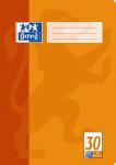 Oxford Schulheft - A4 - Lineatur 30 (blanko mit Lochung) - 16 Blatt - 90 g/m² OPTIK PAPER® - geheftet - 4-fach gelocht - Orange - 100050316_1100_1581634292