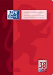 Oxford Schulheft - A4 - Lineatur 38 (kariert mit Rand links und rechts) - 16 Blatt - 90 g/m² OPTIK PAPER® - geheftet - 4-fach gelocht - Rot - 100050318_1100_1583237207