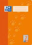 Oxford Schulheft - A4 - Lineatur 7 (kariert 7 mm) - 32 Blatt - 90 g/m² OPTIK PAPER® - geheftet - Orange - 100050325_1100_1583237214