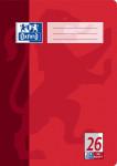 Oxford Schulheft - A4 - Lineatur 26 (kariert mit breitem, weißem Rand rechts) - 32 Blatt - 90 g/m² OPTIK PAPER® - geheftet - Rot - 100050330_1100_1583237221