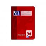 Oxford Vokabelheft - A4 - Lineatur 54 (3 Spalten) - 40 Blatt - 90 g/m² OPTIK PAPER® - geheftet - Rot und Grün - 100050337_1100_1559848196