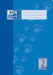 Oxford Schulheft - A4 - Lineatur 2 - 16 Blatt - 90 g/m² OPTIK PAPER® - geheftet - Blau - 100050401_1100_1583237346