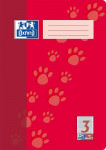 Oxford Schulheft - A4 - Lineatur 3 - 16 Blatt - 90 g/m² OPTIK PAPER® - geheftet - Rot - 100050402_1100_1583237348