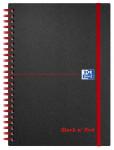 Oxford Black n' Red A5 Poly Cover Wirebound Notebook Ruled 140 Page Black Scribzee-enabled -  - 100080140_1100_1561095109