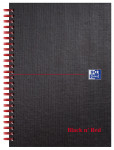 Oxford Black n' Red A5 Matt Hardback Wirebound Notebook Ruled 140 Page Black Scribzee-enabled -  - 100080154_1100_1561095068