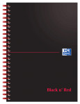 Oxford Black n' Red A5 Card Cover Wirebound Notebook Ruled 100 Page Black Scribzee-enabled -  - 100080155_1100_1561094931