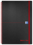 Oxford Black n' Red A4 Poly Cover Wirebound Notebook Ruled 140 Page Black Scribzee-enabled -  - 100080166_1100_1561095119