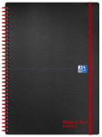 Oxford Black n' Red A4 Poly Cover Wirebound Notebook Ruled 140 Page Recycled Black Scribzee-enabled -  - 100080167_1100_1554291081