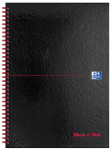Oxford Black n' Red A4 Glossy Hardback Wirebound Notebook 5mm Square Ruled 140 Page Black Scribzee-enabled -  - 100080201_1100_1561077526
