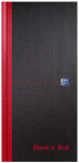 Oxford Black n' Red 1/3 A3 (14x29.7cm) Hardback Casebound Notebook Ruled 192 Page Black -  - 100080528_1100_1554291073