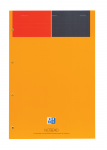 OXFORD International Notepad - A4+ - Card Cover - Stapled - Narrow Ruled - 160 Pages - SCRIBZEE® Compatible - Orange - 100100101_1101_1576576505