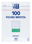 OXFORD Index Cards - A4 - Shrink-wrapped - Unpunched - 5mm Squares - 100 Cards - White - 100100450_1100_1595580213