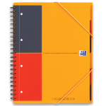 Oxford International Cahier Organiserbook - A4+ - Couverture polypro - Reliure intégrale - ligné 6mm - 160 pages - Compatible SCRIBZEE® - Orange - 100100462_1101_1610038103
