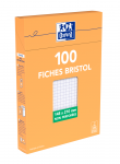 OXFORD Index Cards - A5 - Boxed - Unpunched - 5mm Squares - 100 Cards - White - 100100757_1300_1595585211