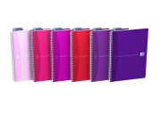 OXFORD Office My Style Notebook - A4 - Soft Card Cover - Twin-wire - Ruled - 180 Pages - SCRIBZEE® Compatible - Assorted Colours - 100100788_1200_1591967385