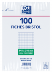 OXFORD Index Cards - A5 - Shrink-wrapped - Unpunched - 5mm Squares - 100 Cards - White - 100101082_1100_1595580204